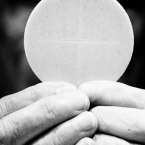 Eucharist black and white
