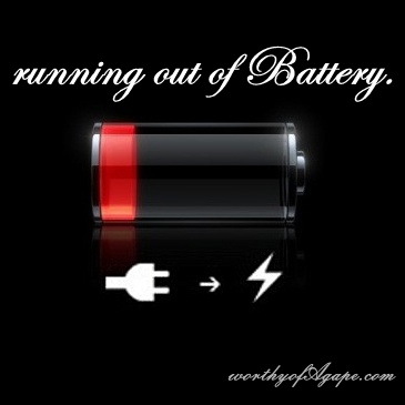 running out of Battery.